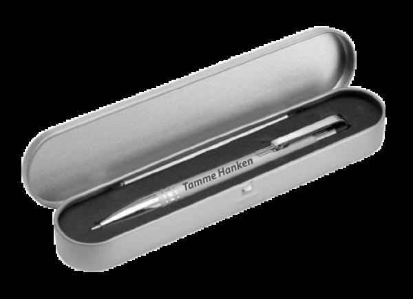 Metallkugelschreiber mit Box